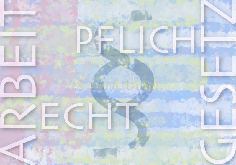 Znacząco niemiec terminy związany z pracą i prawem ilustracji