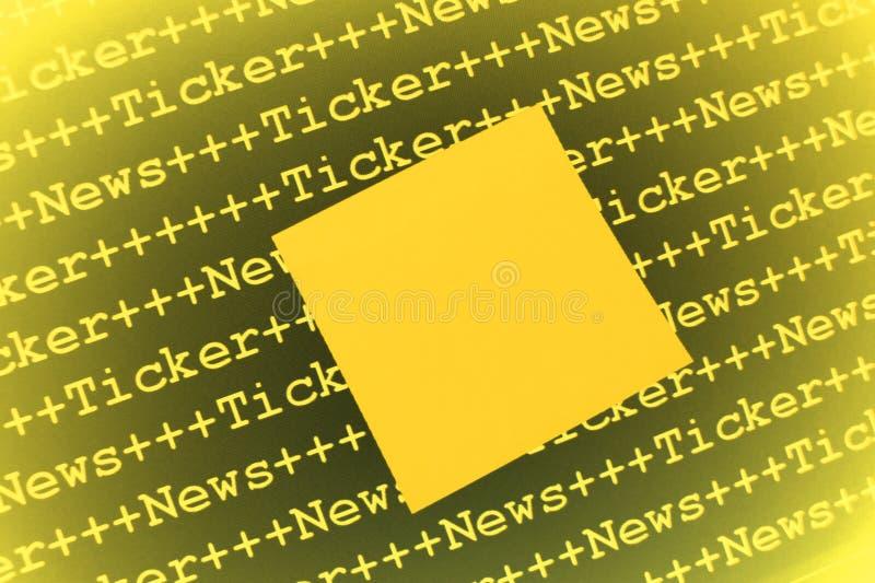 Download Znacząco zawiadomienie obraz stock. Obraz złożonej z łamanie - 12159791