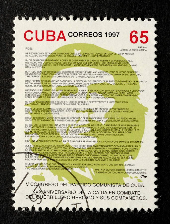 Znaczek Che Guevara obrazy stock