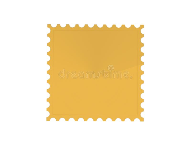 Znaczek pocztowy 3d obrazy stock