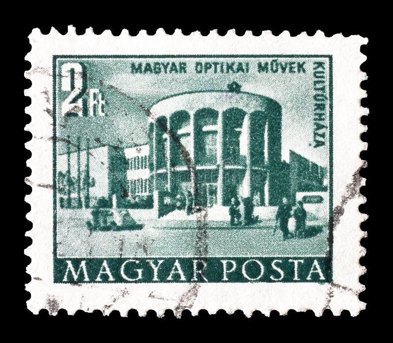 Znaczek pocztowy drukujący Węgry obraz royalty free