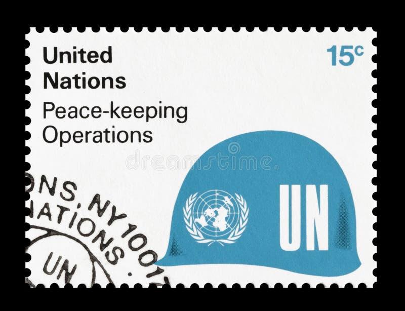 Znaczek pocztowy drukuj?cy Narody Zjednoczone obraz royalty free
