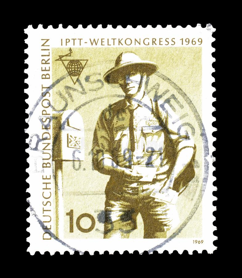 Znaczek pocztowy drukuj?cy Niemcy obrazy stock