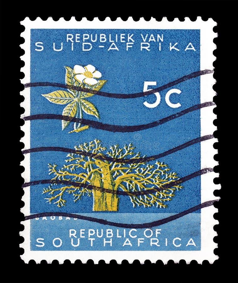 Znaczek pocztowy drukuj?cy Po?udniowa Afryka obrazy royalty free