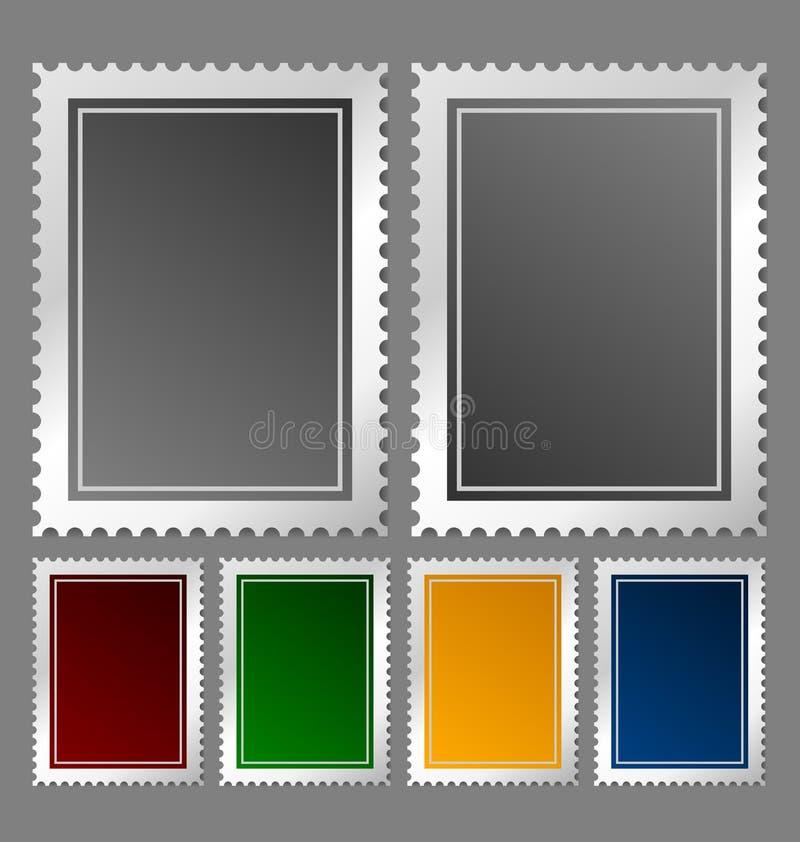 znaczek pocztowy szablon ilustracja wektor