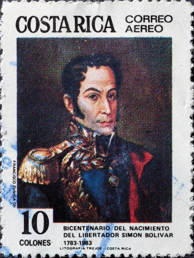 Znaczek pokazuje Simon Bolivar zdjęcie royalty free