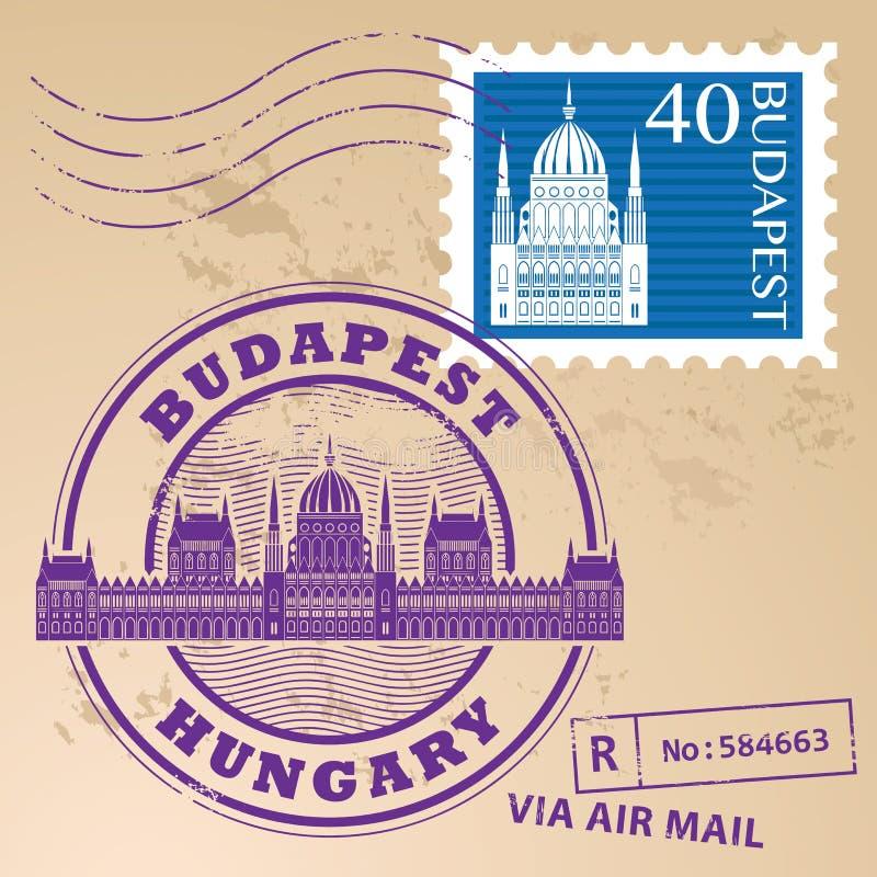 Znaczek ustalony Budapest ilustracja wektor
