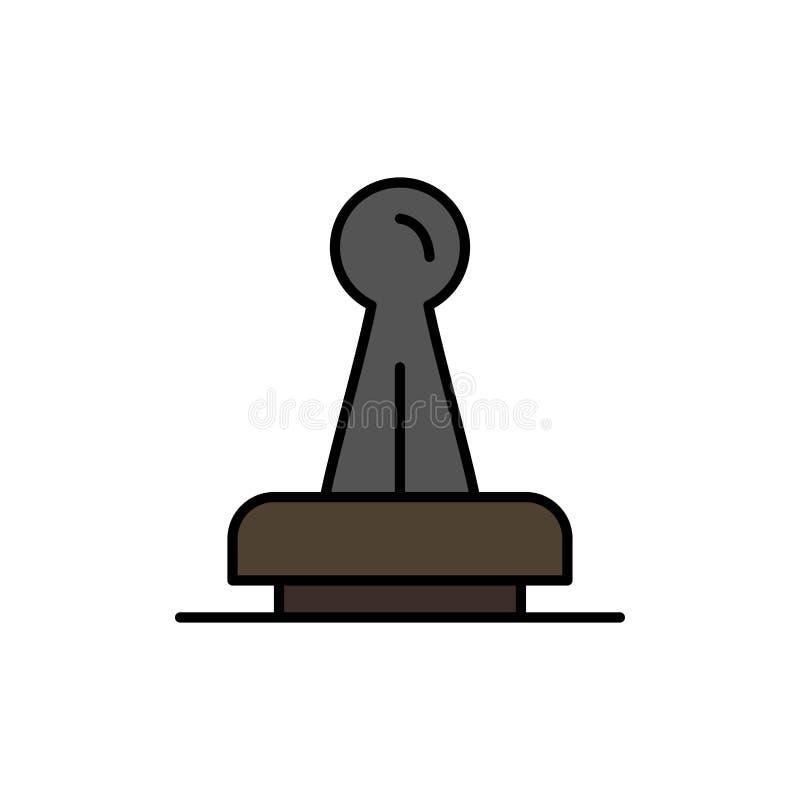 Znaczek, zatwierdzenie, władza, Legalna, Mark, guma, foka koloru Płaska ikona Wektorowy ikona sztandaru szablon ilustracja wektor