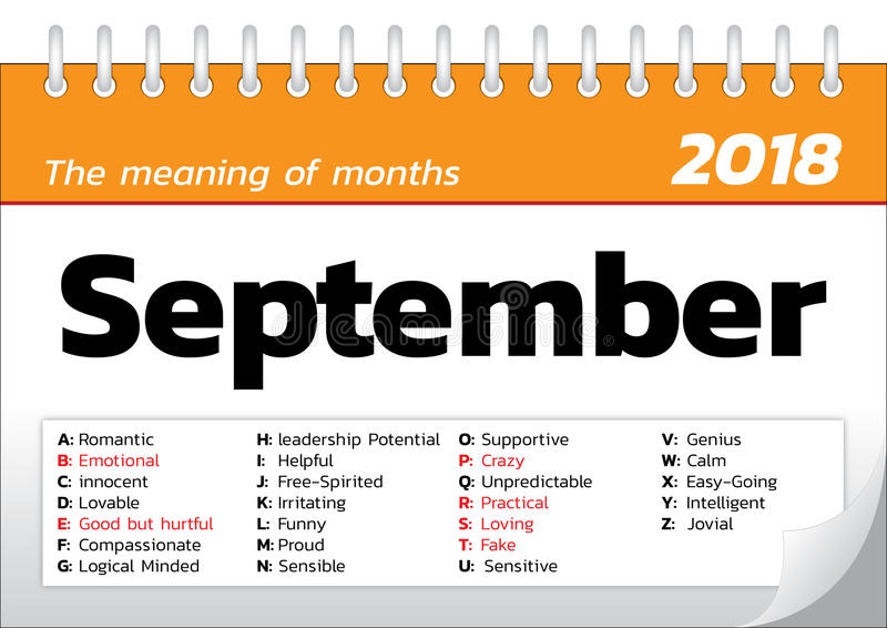Znaczenie miesiące ilustracji