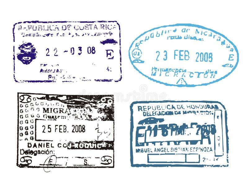 znaczki paszport royalty ilustracja