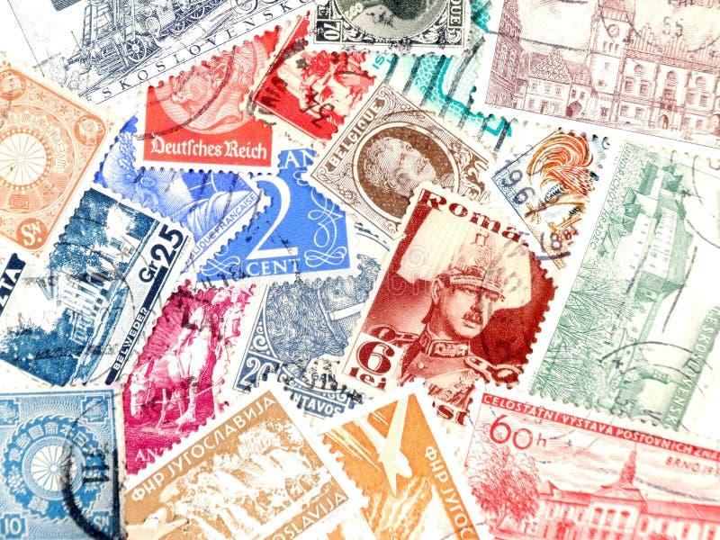 znaczki pocztę fotografia stock
