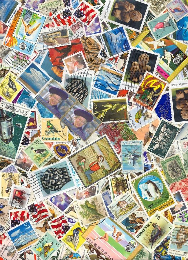znaczki pocztowe światu. zdjęcie royalty free