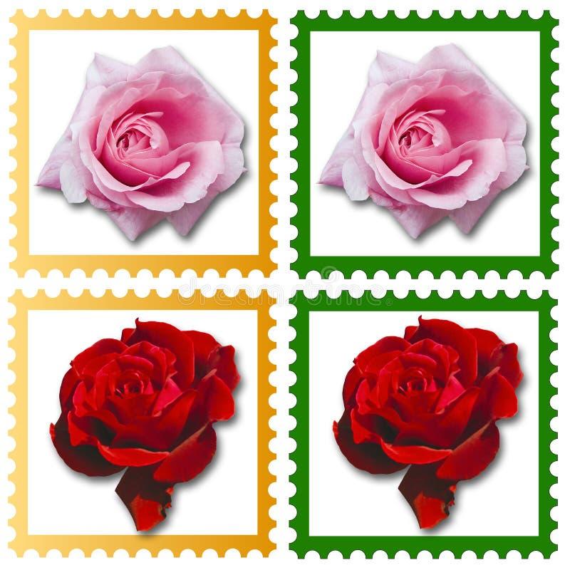 znaczki rose ilustracja wektor