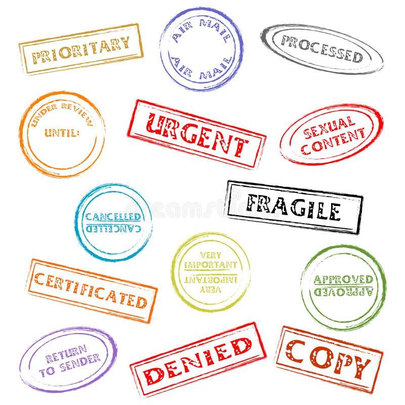 znaczki zestawów ilustracja wektor