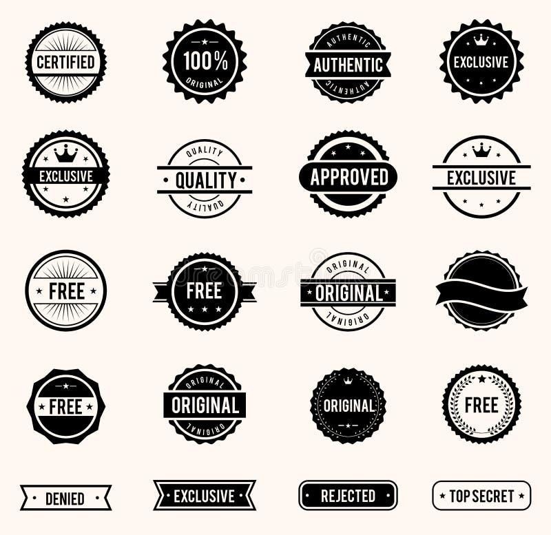znaczki zestawów ilustracji