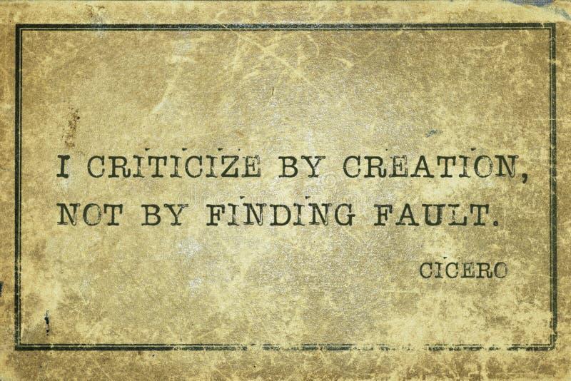 Znajdować usterkę Cicero ilustracja wektor