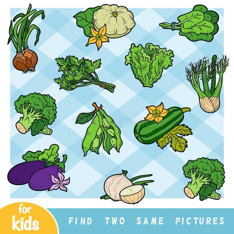Znajduje dwa ten sam obrazki, edukaci gra dla dzieci royalty ilustracja