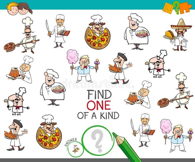 Znajduje jeden miła gra z szefów kuchni charakterami ilustracja wektor