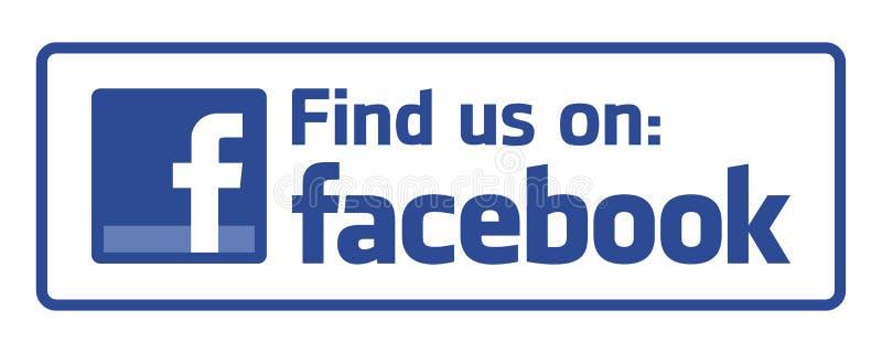 Znajduje my na Facebook ilustracja wektor