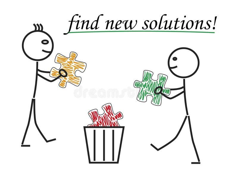 Znajduje nowych rozwiązania ilustracja wektor