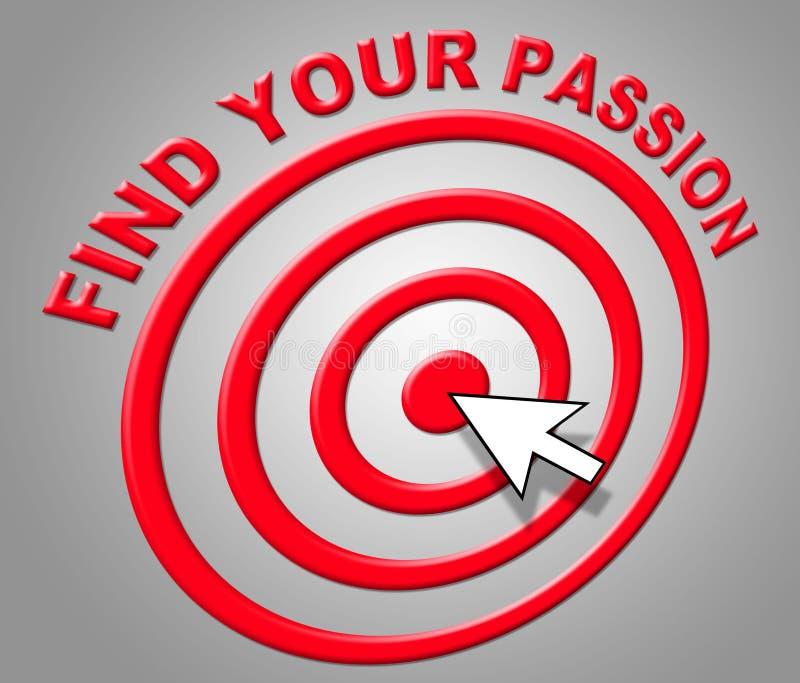 Znajduje Twój pasję Wskazuje Plciowego pragnienie I adorację ilustracji