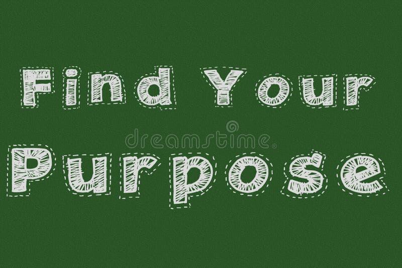 Znajduje twój purpose chalkboard typografii motywacyjnego pojęcie dla strony internetowej ilustracji