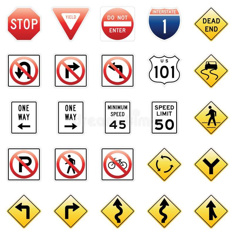 znaków ruch drogowy wektor ilustracja wektor