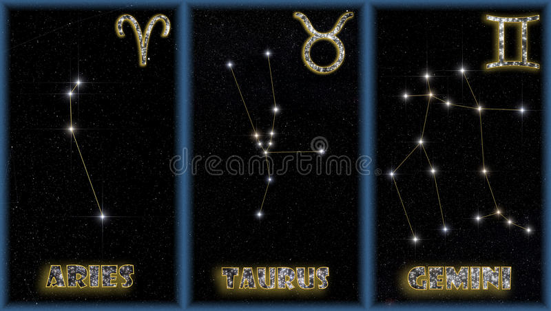 znaków wiosna zodiak royalty ilustracja