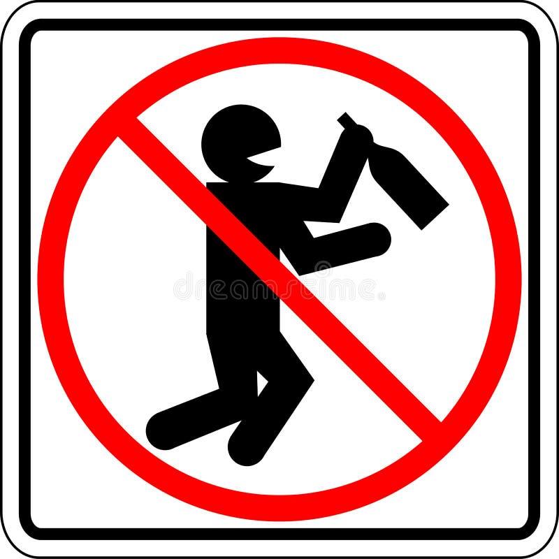 znaków zabraniających wektorów TARGET1934_0_ pijący ludzie ilustracja wektor