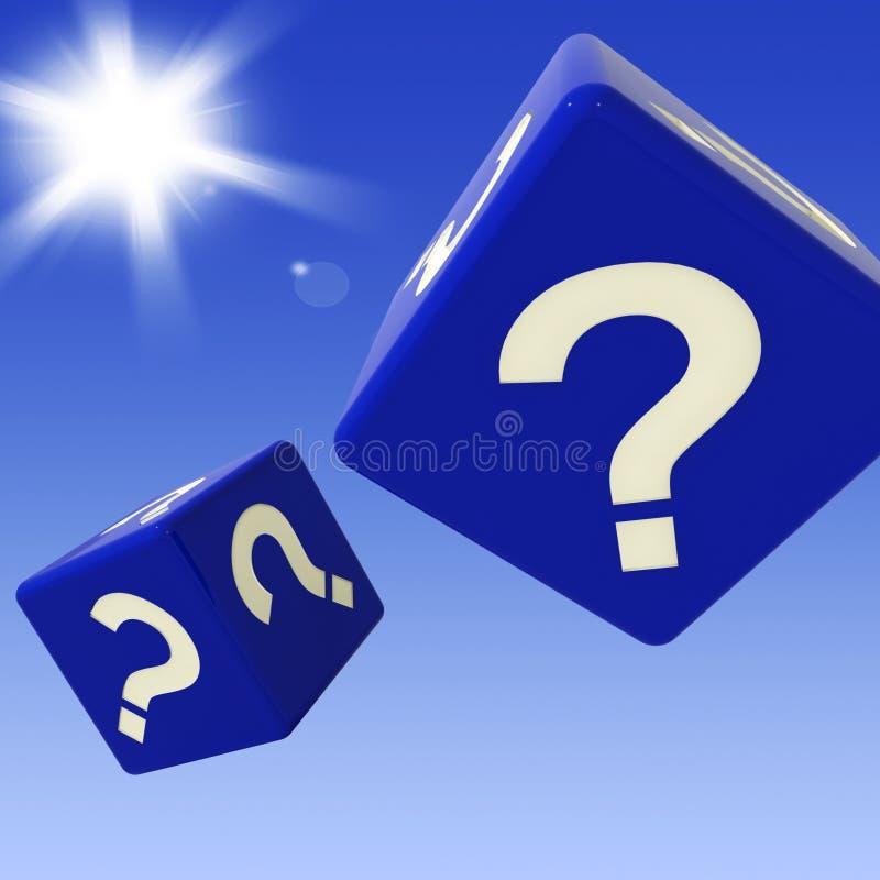 Znaków Zapytania kostka do gry Pokazują Enquiries I wątpienia ilustracja wektor