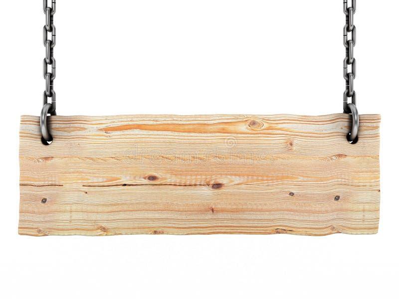 znak ślepej drewniane royalty ilustracja