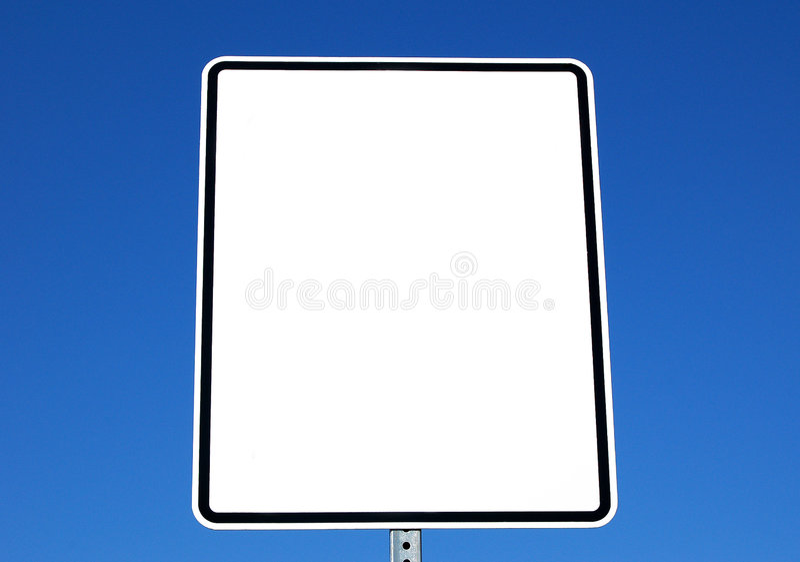 znak ślepej white obrazy stock