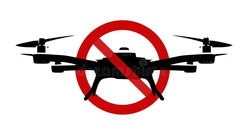 Znak: Żadny truteń strefa! ilustracja wektor