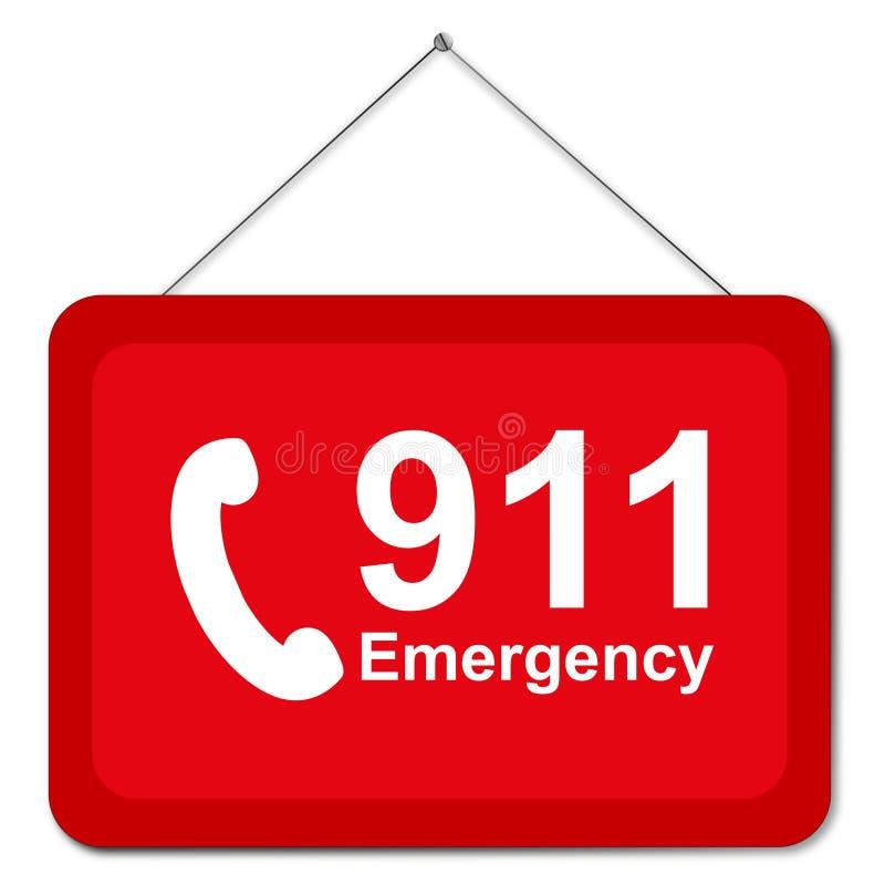 911 znak royalty ilustracja