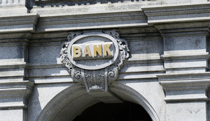 Znak bank zdjęcia stock