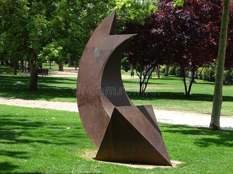 Znak 3d strzała w parku obrazy stock