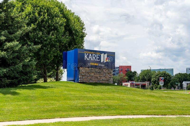 Znak dla Kare 11 wiadomości kwater głównych biura, wiadomości telewizyjne stacja, przyłączająca się obrazy royalty free