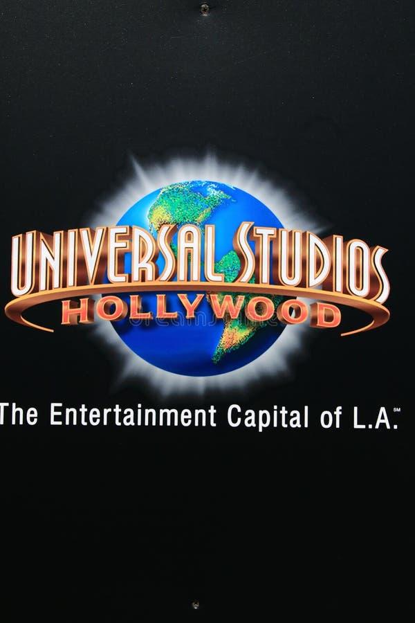 Znak dla universal studio Hollywood zdjęcia royalty free