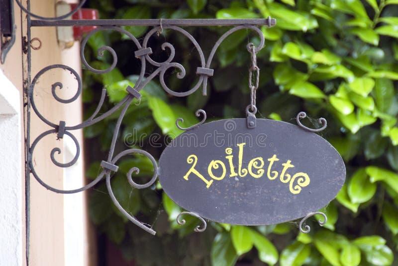 znak do łazienki zdjęcia stock