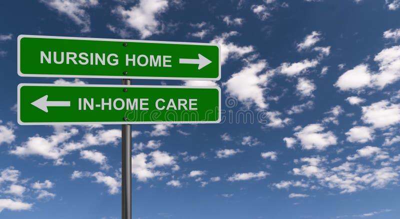 Znak domowej opieki pielęgniarskiej ilustracji