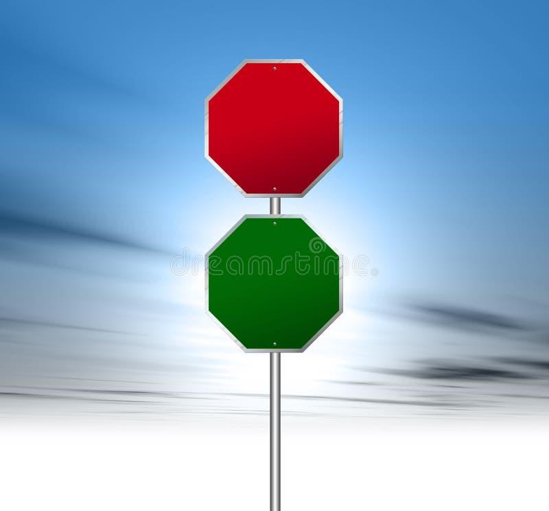 znak drogowy ilustracji