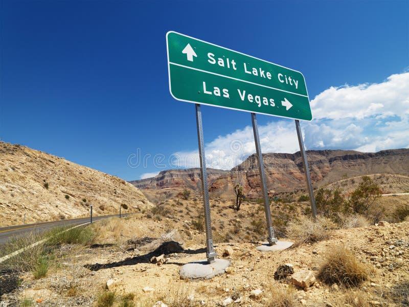 znak drogowy desert zdjęcie stock