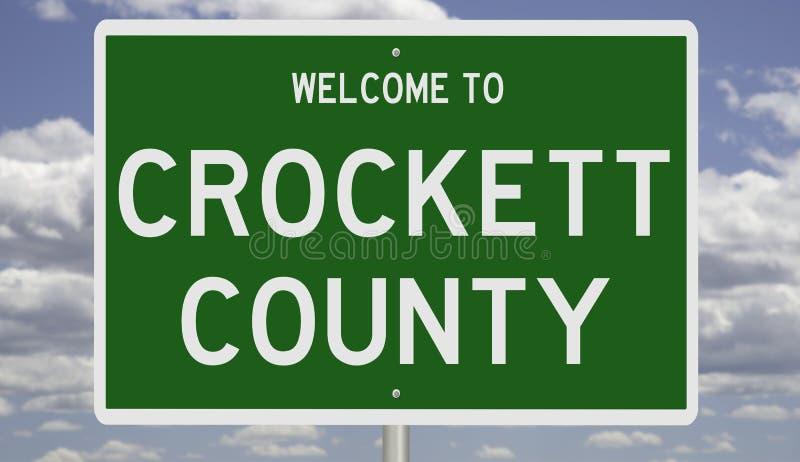 Znak drogowy dla hrabstwa Crockett obraz stock