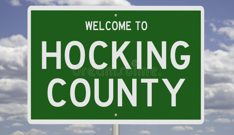 Znak drogowy dla hrabstwa Hocking zdjęcie stock