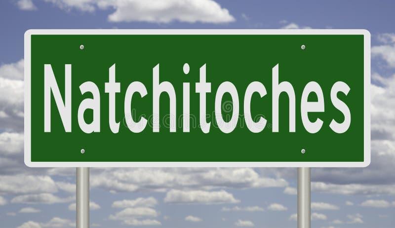 Znak drogowy dla Natchitoches obraz royalty free