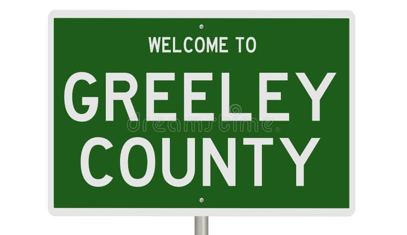 Znak drogowy w hrabstwie Greeley ilustracji