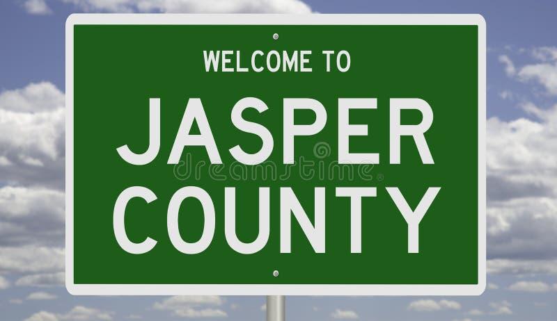 Znak drogowy w hrabstwie Jasper zdjęcia royalty free