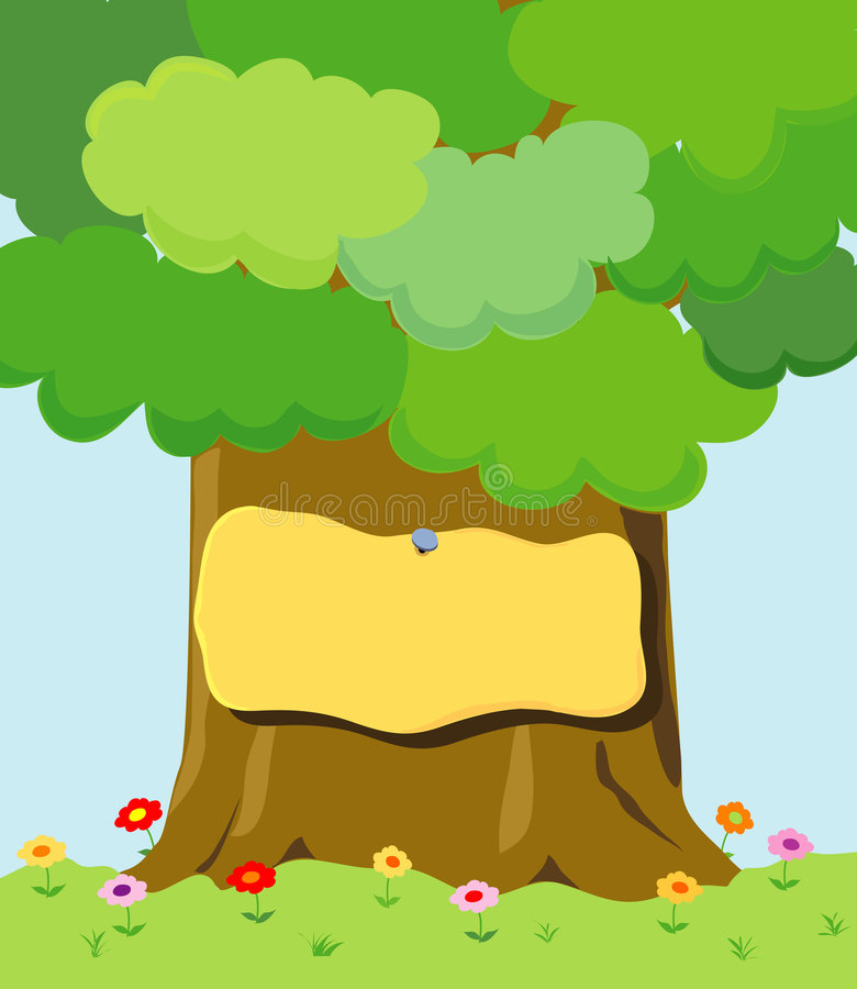 znak drzewa ilustracja wektor
