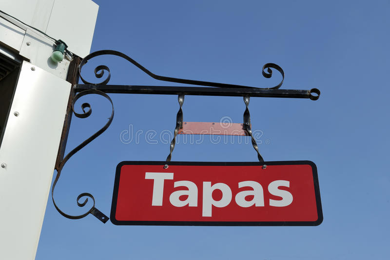 Znak Hiszpańska restauracja obraz royalty free