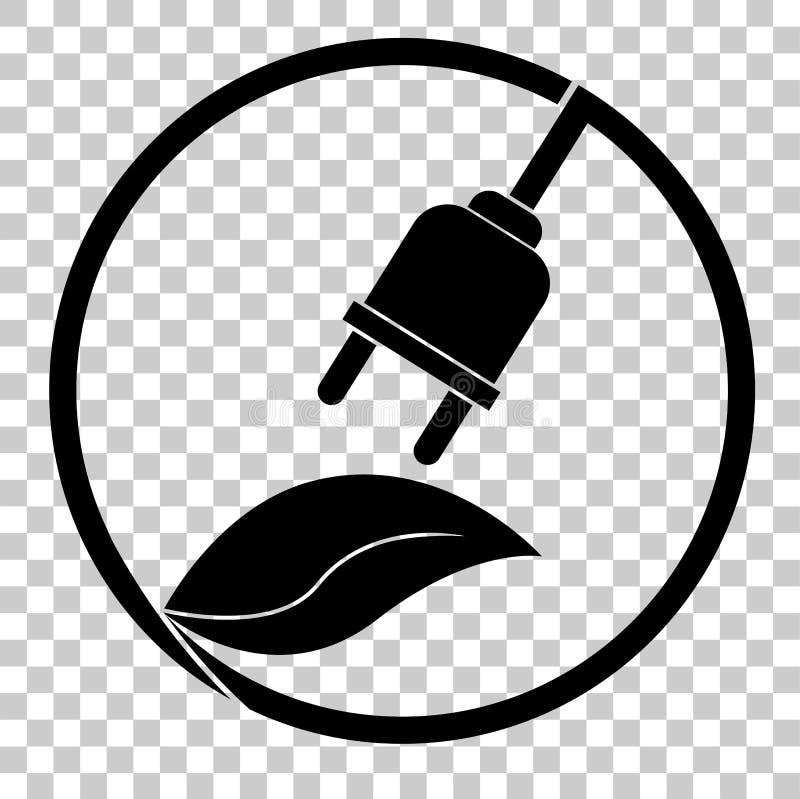 Znak Iść zieleń - elektryczność ilustracja wektor